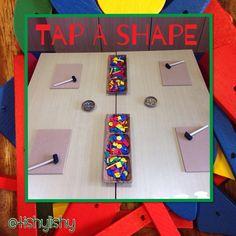 Tap a shape maths activity.