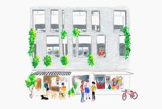 Illustration designed by Studio Hi Ho for Neometro and their property development Nine Smith Street