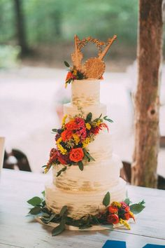 DIY woodsy wedding: Michelle + Joseph