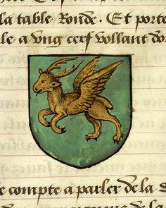 Noms, armes et blasons des chevaliers de la Table Ronde, MS M. 16 fol. 73r - Images from Medieval and Renaissance Manuscripts - The Morgan Library & Museum