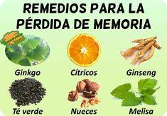 tratamiento natural perdida falta de memoria plantas medicinales y remedios