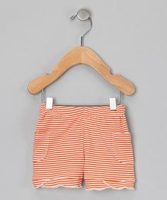 Take a look at this Marigold Stripe Organic Shorts - Infant, Toddler & Girls by Kiwi Industries on #zulily today!