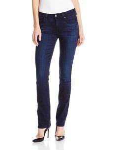 7 For All Mankind Women's Straight Jean in Pristine Blue/Black Size 24 NWT $189 #7ForAllMankind #StraightLeg