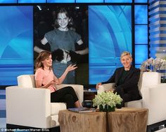 Sack-esque: Earlier on the show, Ellen poked fun at the dress Emma had worn to her very first movie premiere of Harry Potter And The Philosopher's Stone in 2001