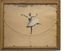 """Ballerina"", Indoor graffiti .      - #Banksy art work '"