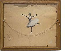 """Ballerina"", Indoor graffiti .      - #Banksy art work '"