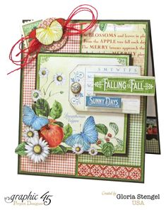 Today is World Card Making Day, so what better way to celebrate than with some Graphic 45 cards?!   I am sharing the Graphic 45 Time to Flo...