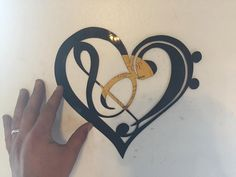 Music Heart Laser Cut Vinyl Record artist by SCHROCKMETALFX