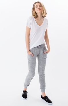 7d31dcdeb3aca Z supply women s the marled heather grey jogger Grey Joggers
