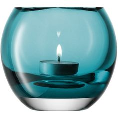 LSA MILO TEALIGHT HOLDER 10cm PALE PEACOCK ($27) ❤ liked on Polyvore featuring home, home decor, candles & candleholders, candles, aqua, decor, other, aqua home decor, peacock home decor and lsa international