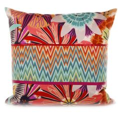 Discover the Missoni Home Neda Patchwork Cushion  - 159 - 60x60cm at Amara