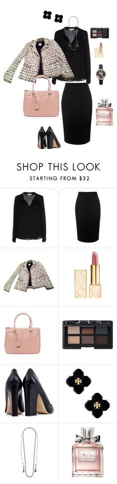 """""""outfit for +size"""" by ulusia-1 ❤ liked on Polyvore featuring мода, Milly, Alexander McQueen, Chanel, Tory Burch, Prada, NARS Cosmetics, Dee Keller, Chan Luu и Christian Dior"""