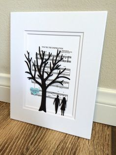 Personalized Anniversary or Wedding Gift 3D Paper by HandmadeHQ