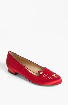 Charlotte Olympia 'Kitty' Flat!!! i smell an early bday/xmas/anniversary present!!!!