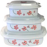 Found it at Wayfair - Coordinates Microwave Cookware and Storage Set with Pretty Pink Design
