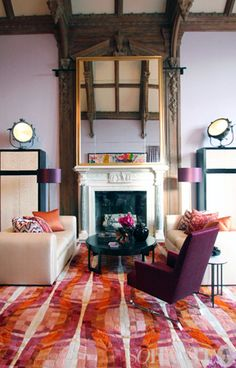 maison de luxe. that rug is insane.
