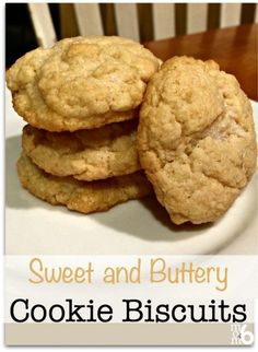 Recently the kids and I tried these sweet and butter biscuits that were oh-so-delicious.... but my husband rightly pointed out were almost like cookies. So now I call them cookie biscuits. You can call them cookies- call them biscuits- call them an accompaniment- or call them dessert. I just call them yummy!