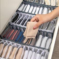 Sock Storage, Bra Storage, Closet Storage, Storage Boxes, Lingerie Storage, Cabinet Closet, Storage Hacks, Storage Drawers, Small Drawer Organizer