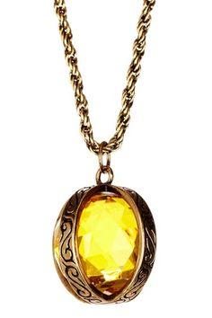 $18 Crystal ball filigree necklace, Cam & Zooey, hautelook.com