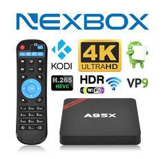 NEXBOX A95X Pro 1GB 8GB Android 6.0 TV Box S905X Quad-Core 4K HDR Ultra-HD H265 VP9 Ethernet WiFi SPDIF IR Remote