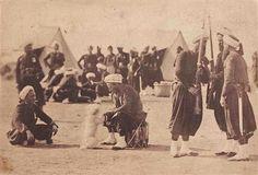 Camp de Châlons, vues recadrées (4 works) by Gustave Le Gray