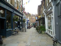 The delightful Flask Walk in the heart of beautiful Hampstead, London