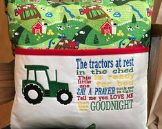 Tractor Farm Reading Pillow