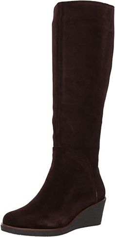 """These wedge knee high boots by Aerosoles boasts a 16"""" opening and is fully loaded for comfort walking. Check out TFG's knee high boots wide calf picks that will fit properly and are stylish and comfortable! #TravelFashionGirl #TravelFashion #TravelShoes #travelboots #highboots #womenboots Stretch Knee High Boots, Wide Calf Boots, Long Boots, Travel Boots, Winter Shoes, Look Chic, Suede Boots, Brown Suede, Ankle Booties"""