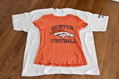 Resize a t-shirt. This is INVALUABLE for me. I like a lot of the freebie t-shirts they give away at sporting events - but what's a girl who wears a XS/S to do with a XL/XXL.... RESIZE IT!!!
