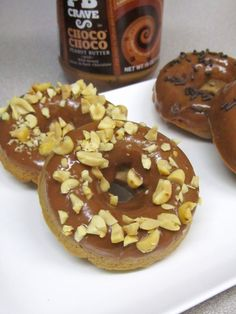 Baked Choco-Peanut Butter Doughnuts