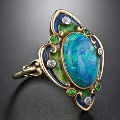 Art Nouveau Opal ring, aka good wedding ring for courtney