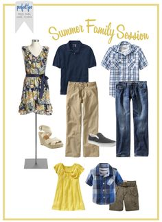 What to wear for a family photo shoot. All from Old Navy