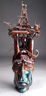 Grafton Pottery Face Jugs: Mitchell Grafton Pottery