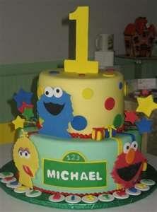 Sesame Street theme birthday cake