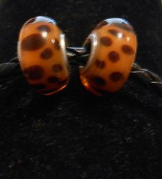 2x High Quality Leopard Glass Beads on Etsy, $2.50