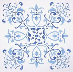 Create an accent wall or decorate larger surfaces with our Florence Tile Furniture & Wall Stencil. Stencil this pattern as a single wall art motif, create a faux tile effect, or an allover European pa Stencil Fabric, Wall Stencil Patterns, Stencil Painting On Walls, Stencil Designs, Tile Patterns, Large Stencils, Tile Stencils, Decoupage, Tile Crafts