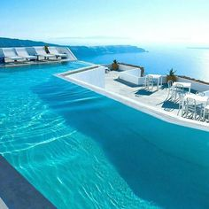 Santorini, Greece Tag your lover! -- Photo by Grace Hotels Vacation Places, Vacation Destinations, Dream Vacations, Vacation Spots, Places To Travel, Places To Visit, Beautiful Pools, Beautiful Places, Resorts