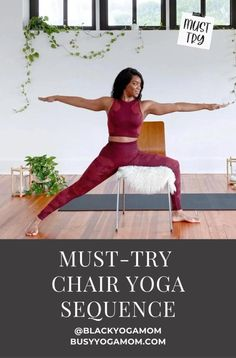 Stretch and nourish your body with these 9 must-try chair yoga poses for all levels. #yoga #yogaposes #accessible #adaptive #yogateacher #flexibility #stretching #mindfulness Beginner Yoga, Yoga For Beginners, Hip Stretches, Stretching, Yoga Sequences, Yoga Poses, Yoga For Back Pain, Chair Yoga, Yoga Mom