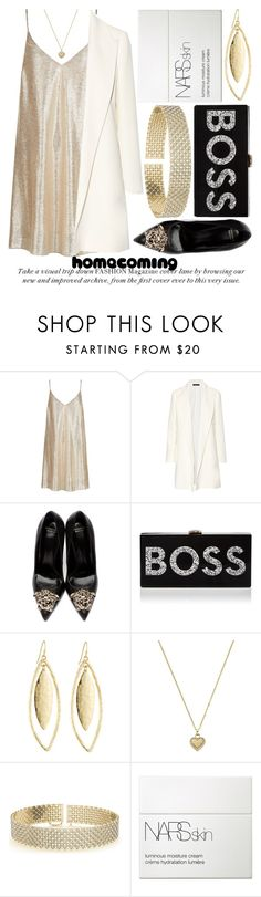 """""""HOMECOMING STYLE #2"""" by noraaaaaaaaa ❤ liked on Polyvore featuring New Look, The Row, Versace, Milly, Fragments, Michael Kors, Allurez and NARS Cosmetics"""
