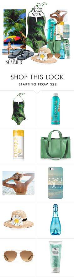 """""""Untitled #102"""" by xiomara-ponce ❤ liked on Polyvore featuring COOLA Suncare, Clinique, Corto Moltedo, Casetify, Kate Spade, Davidoff, Stella & Dot, Origins, Valentino and stylishcurves"""