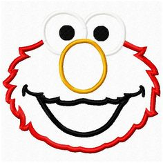 Sesame Street Elmo Applique Design with two par abcdesignsplus, $3.99