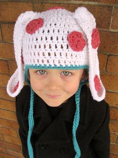 Rudolph Island of Misfit Toys Spotted Elephant Earflap Hat! Kids or Adult sizes. By Julian Bean for $40 at http://www.julianbean.etsy.com
