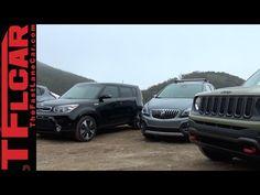 2015 Jeep Renegade vs Nissan Juke vs KIA Soul vs Buick Encore Mashup Review - YouTube