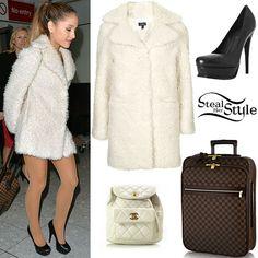 Ariana Grande: Fur Coat, Platform Pumps