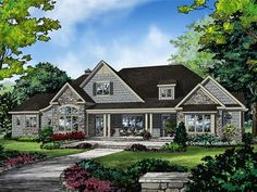 Ranch Plan with 3369 Square Feet and 4 Bedrooms from Dream Home Source | House Plan Code DHSW078150