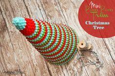 Mini Pom Pom Trim Christmas Tree.