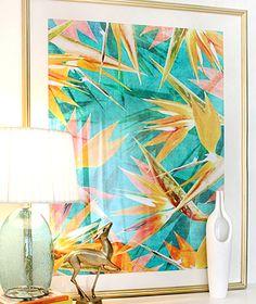 """""""Birds of Paradise"""" art print by COZAMIA  #art, #decor, #cozamia"""