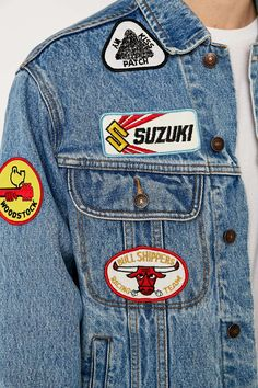 Shop Urban Renewal Vintage Customised Patch Denim Jacket at Urban Outfitters today. Denim Jacket Patches, Denim Jackets, What Is Urban, Urban Renewal, Latest Fashion, Urban Outfitters, Fashion Inspiration, Coats, My Style