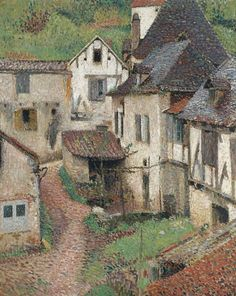 Henri Martin (French, 1860-1943), Saint-Cirq Lapopie, 1926. Oil on canvas, 104.9 x 84.9 cm.
