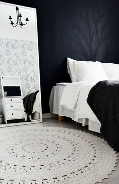 Virkattu matto, bedroom